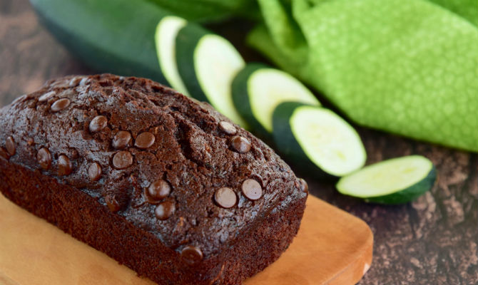 Chocolate Zucchini Protein Loaf